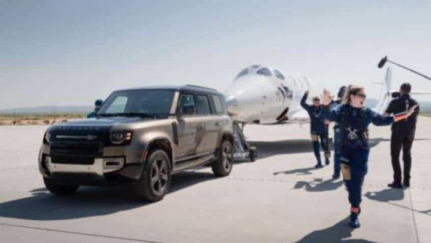 Virgin Galactic first full-crew space flight: How Range Rover Astronaut Edition, Land Rover Defender 110 helped put Richard Branson into space for the first time | See Pics