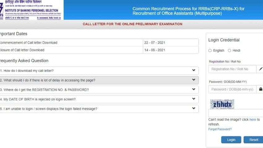 IBPS RRB Clerk Admit Card 2021 RELEASED on ibps.in; follow THESE simple steps to DOWNLOAD - Check exam pattern for IBPS RRB Clerk Exam 2021