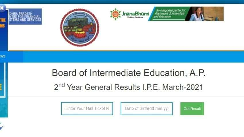 AP Inter 2nd year 2021 BIE Andhra results DECLARED - list of websites to check