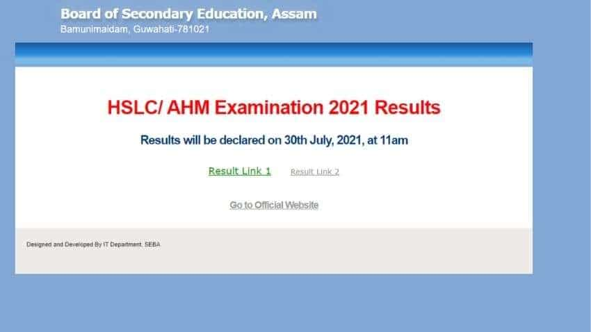 SEBA Assam Board to DECLARE HSLC results 2021 TODAY at 11 AM, see how to CHECK results at sebaonline.org