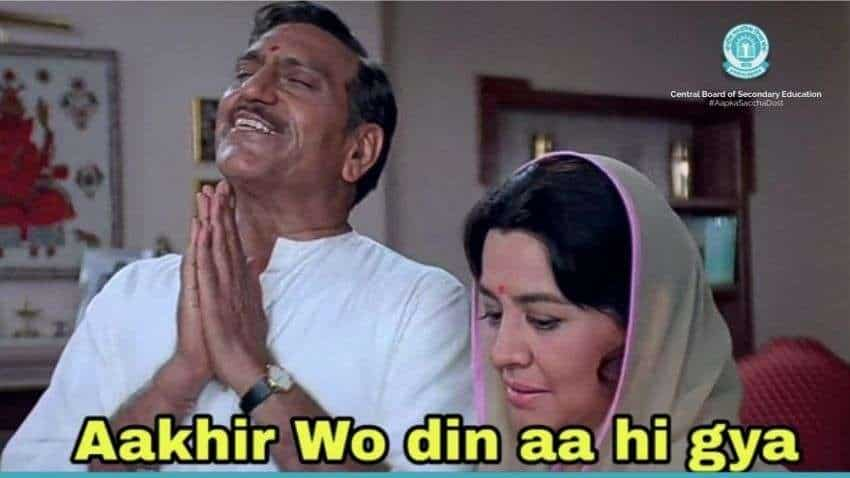 CBSE class 12th board exam 2021 results to be DECLARED TODAY at 2 PM; board shares HILARIOUS meme to inform that - see WHERE and HOW to check
