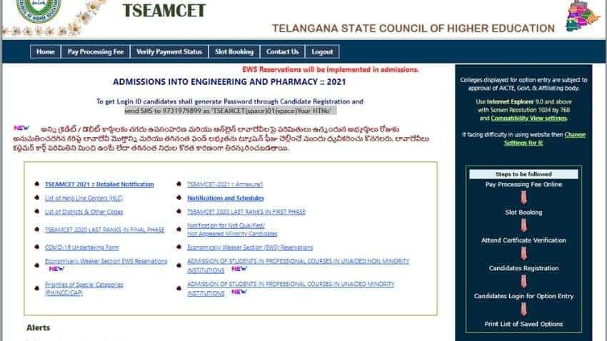 TS EAMCET 2021 counselling dates RELEASED, see FULL SCHEDULE here - Also check FULL PROCESS of slot booking