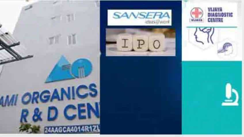 Ami Organics, Vijaya Diagnostic IPO LISTING, Sansera Engineering IPO opening to drive primary market today—Check Anil Singhvi's views on 2 IPOs to be listed on bourses