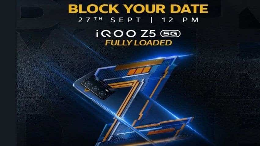 iQOO Z5 5G India launch date set for September 27: Here's all you need to know
