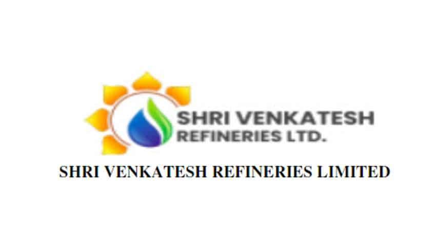 IPO of Shri Venkatesh Refineries Limited to open on BSE SME platform on Sept 29