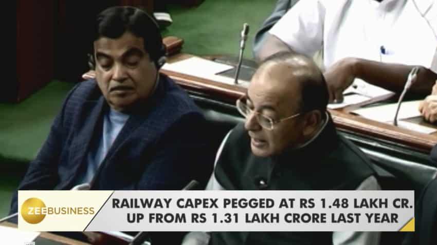 Railway Budget: FM Arun Jaitley allocates Rs1.48 lakh cr for railways, promises Wi-Fi, CCTVs