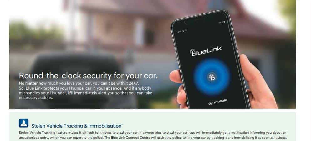 Hyundai Venue: Stolen Vehicle Tracking feature! This will